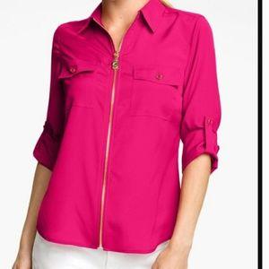 Michael Kors zipper blouse